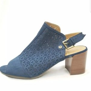 Tommy Hilfiger Blue Cage Heal Strap Shoes Size 10M